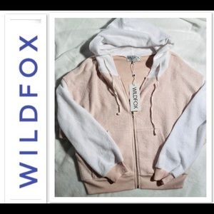 WILDFOX Zip-up Hoodie NWT! Sz M